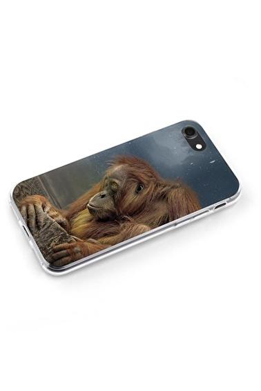 Lopard Apple İphone 8 Kılıf Masum Maymun Kapak Renkli